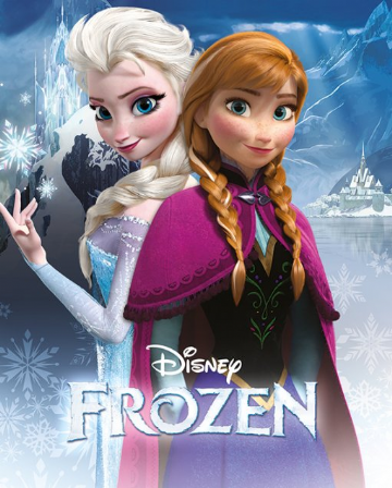 frozen anna and elsa mini poster. disney